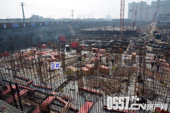 新城汇金广场最新工程进度2月21日实拍